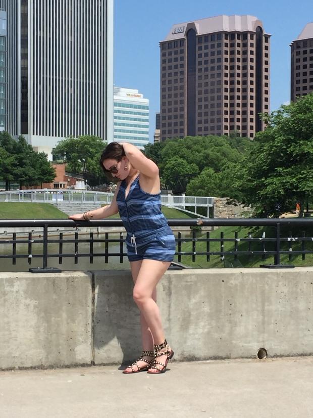 Posing at the River